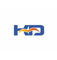 Letter K and D logo vector image