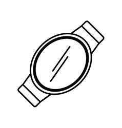 Smart watch wearable technology display vector