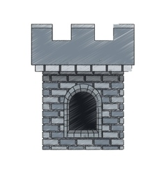 Medieval castle icon vector