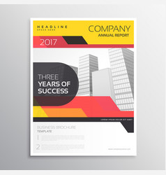 Brand company business brochure or leaflet vector