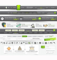Web template navigation vector