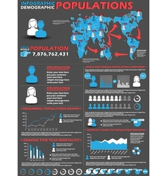Infographic demographic modern style 2 vector