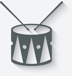 Drum music icon vector