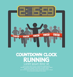 Countdown clock at finish line vector