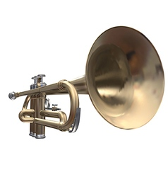 Isolated trumpet on a white background vector