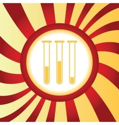 Test-tubes abstract icon vector