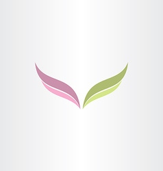 Green and purple wings logo vector