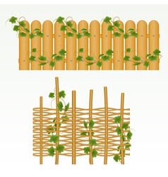 Nature fence vector