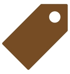 Tag flat brown color icon vector