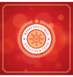 Christmas greeting card lights background vector