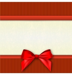White text place with red ribbons and bow vector
