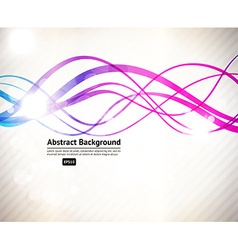 Abstract background with curved lines vector