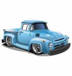 Cartoon retro hotrod vector