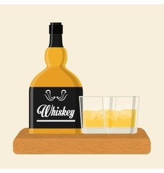 Whiskey icon design vector