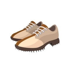 A pair of golf shoes cartoon icon vector