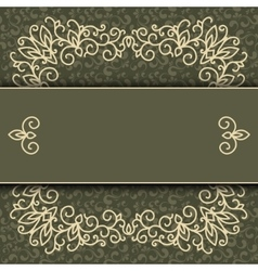 Elegant frame banner floral elements vector