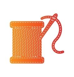 Thread with needle sign  orange vector