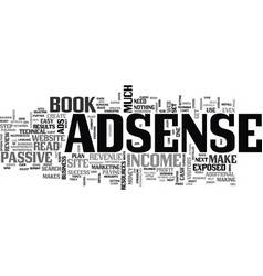 Adsense revenue exposed review text word cloud vector