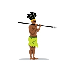 African aborigine cartoon vector