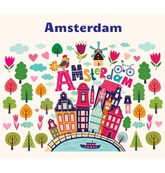 Amsterdam symbols vector