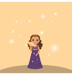 Beautiful cartoon princess vector