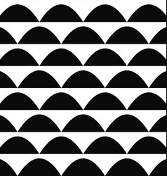 Black and white seamless curved shape pattern vector