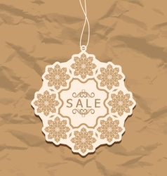 Christmas discount label vintage style vector