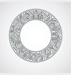Circuit board circle digital technologies vector