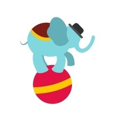 Circus elephant on ball icon vector