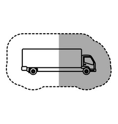 contour trucks trailer icon vector image vector image