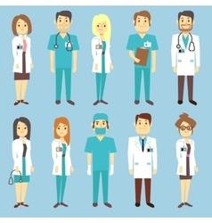 Doctors nurses medical staff people vector