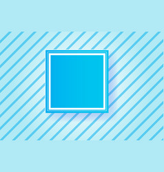 Frame blue line backgroundpaper cut style vector