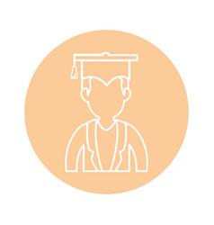 Graduation cap design vector