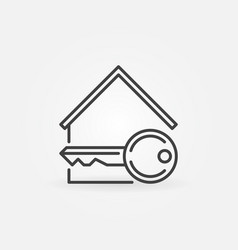 House with key icon vector