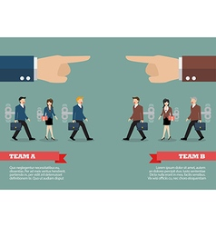 Infographic of mechanical business men and women vector