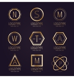 Massive logo set bundle icons badge vector image vector image
