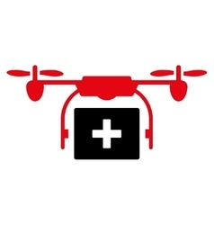 Medical Drone Shipment Icon vector image vector image