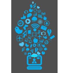 Modern social media content vector