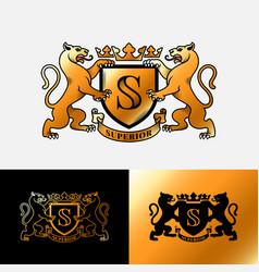 panthers heraldic emblem vector image