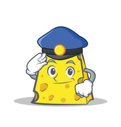 Police cheese character cartoon style vector