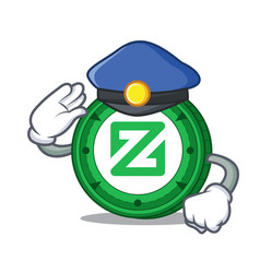 Police zcoin character cartoon style vector