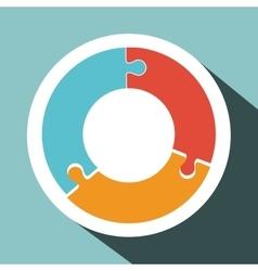 Puzzle icon design vector