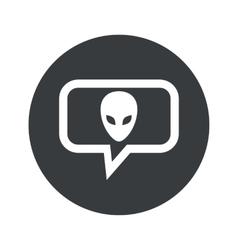 Round alien dialog icon vector