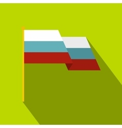 Russian national flag icon flat style vector