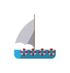 Ship sail travel maritime shadow vector