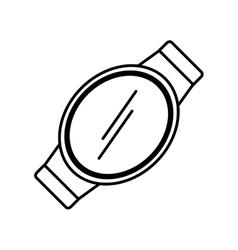Smart watch wearable technology display vector