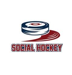 Social hockey design template vector