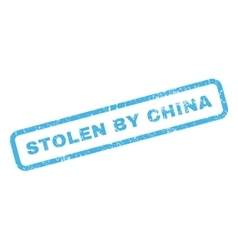 Stolen By China Rubber Stamp vector image vector image