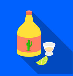 Tequila icon in flat style isolated on white vector