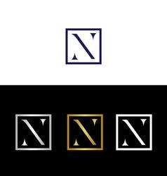 Tiny capital letter n vector